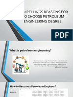 Compellings Reasons for to Choose Petroleum Engineer Degree