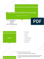 Base de Datos Multidimensionales