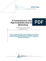 A Comprehensive View of High Availability Data Center Networking