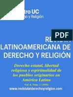Revista Latinoamericana de Derecho y Religion (2018) Vol 04 n° 01 - Derecho estatal, libertad religiosa y espiritualidad de los pueblos originarios en América Latina