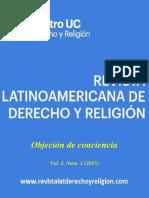 Revista Latinoamericana de Derecho y Religion (2015) Vol 01 n° 01 - Objecion de conciencia