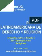 Revista Latinoamericana de Derecho y Religion (2016) Vol 02 n° 02 - Acuerdos entre el Estado y las Organizaciones Religiosas