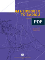 From Heidegger to Badiou. 3rd Workshop of the Project Experimentation and Dissidence