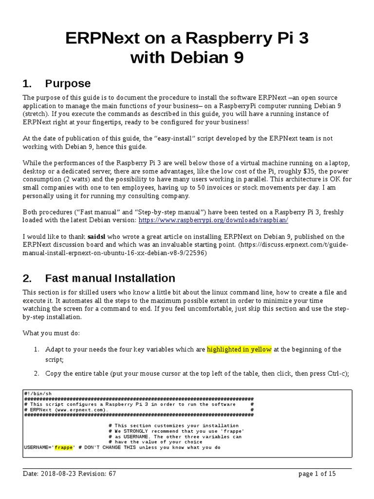 ERPNext on Debian 9 | Sudo | Utility Software