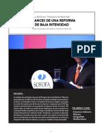 La Reforma Tributaria de Bachelet  ALCANCES DE UNA REFORMA DE BAJA INTENSIDAD