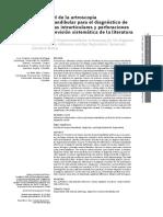 Efectividad de la artroscopia temporomandibular para el diagnóstico de adherencias intrarticulares y perforaciones discales