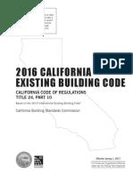 Existing Building 2016 CBC