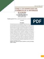 Aproximaciones a Los Significados Del SNI en Los Académicos de La Universidad de Sonora