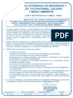 PL 5 01 Política de Gestion Integrada 2018