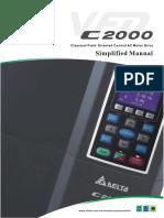 Delta Vfd c2000 Simplified Manual
