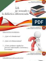 Lección 1.4 El Aprendizaje Sexuado y La Didáctica Diferenciada