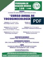 Afiche General Anual Tocoginecologia 2018