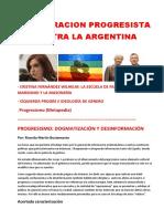 CONSPIRACION PROGRESISTA  CONTRA LA ARGENTINA