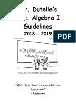 algebra i guidelines  2018-19
