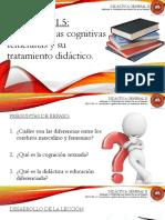 Lección 1.5 Características Cognitivas Femeninas y Su Tratamiento Didáctico