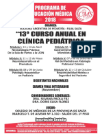 Panfleto General Anual Pediatria 2018