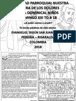 HOJITA EVANGELIO NIÑOS DOMINGO XXI TO B 18 BN