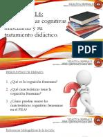 Lección 1.6 Características Cognitivas Masculinas y Su Tratamiento Didáctico