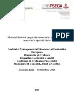 Suport de Studiu Pentru Disciplina Contabilitate, Evaluare Si Audit