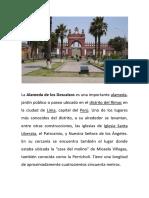 Lista Departamentos y Capitales de Perú