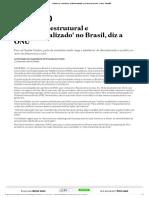 Racismo é 'Estrutural e Institucionalizado' No Brasil, Diz a ONU - Brasil - Estadão