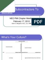 Managing Subcontractors Feb 2010