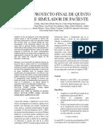 Informe Proyecto Final de Quinto Semestre Simulador de Paciente (1) (Reparado)