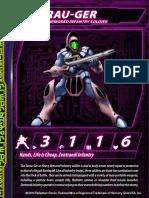 Zentraedi Serau-Ger Heavy Infantry Stat Card for Robotech RPG Tactics