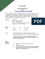 CHM110 Syllabus