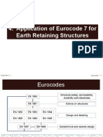4. Application of Eurocode 7 for Earth Retaining Structures