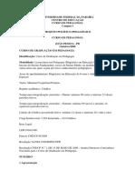 PPC Pedagogia. Currculo 2006