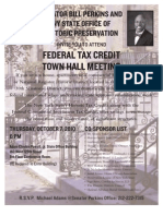 Federal Tax Credit TownHall Meeting