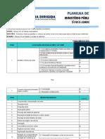 Plano de Estudos - Técnico MPU