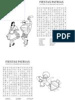 Sopas de Letras Fiestas Patrias