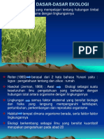 15 Dasar Dasar Ekologi