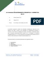 Informe Tecnico Mant. de a.p-2014