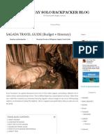 SAGADA TRAVEL GUIDE BLOG 2018 (BUDGET + ITINERARY) - PINAYSOLOBACKPACKER