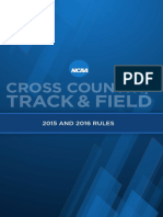 NCAA Track and XC Rules