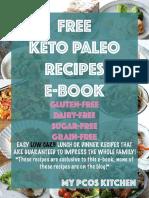 Free Keto Paleo Recipes E Book