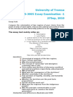 1 HIS 3005 Essay Outline