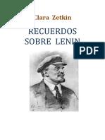 Clara Zetkin Recuerdos Sobre Lenin