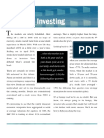 Sensible Investing Monthly Newsletter - October 2010