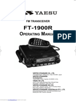 Yaesu FT-1900r Operating Manual