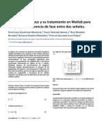 Figuras de Lissajous y su tratamiento en Matlab para recuperar la diferencia de fase entre dos señales.