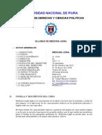 Silabo Medicina Legal Unp - Derecho
