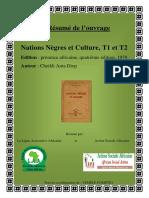 Rsum de Louvrage Nations Ngres Et Culture de Cheikh Anta Diop