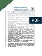 Reglamento de Laboratorios FCQ