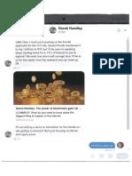 Minister Curran's correspondence with Derek Handley