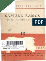 13 J H Luna Samuel Ramos Filosofar Mexicano 1956