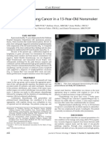 Non Small-Cell Lung Cancer in a 15-Year-Old Nonsmoker
